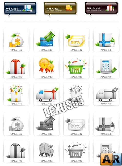 Asadal Web Icons Set