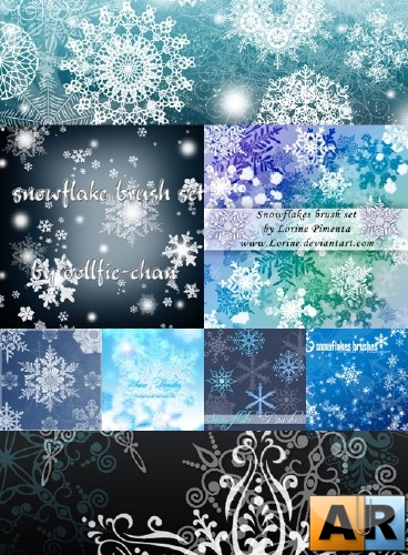 Кисти для Photoshop - Snowflakes Brush Pack