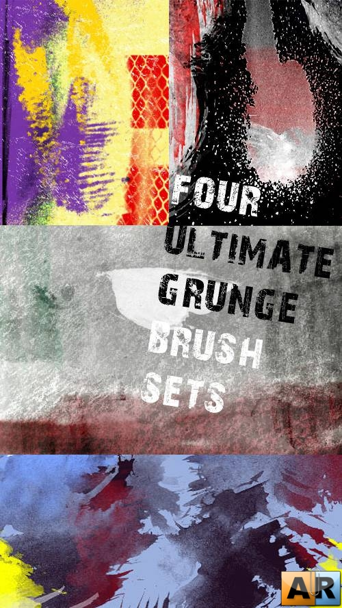 Four Ultimate Grunge Brush Sets