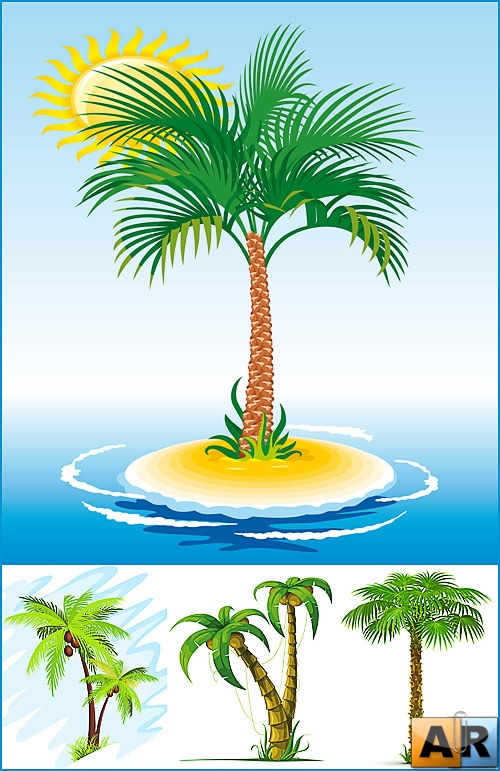 Vector stock - Palm Trees