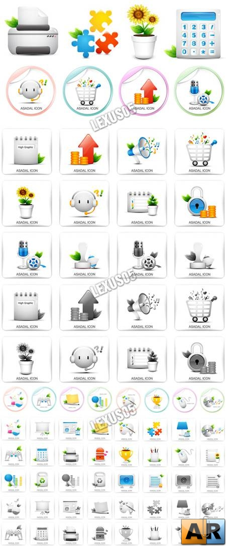 Asadal Icons Set - Vector