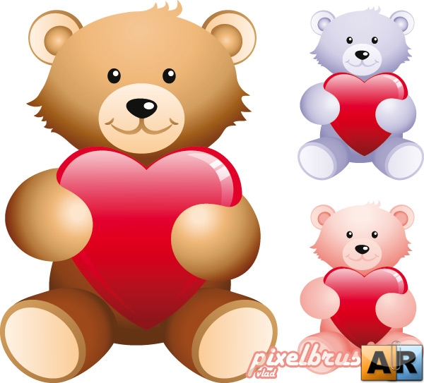 Teddy Bear with Heart - ���������� ����� � ��������� (������)