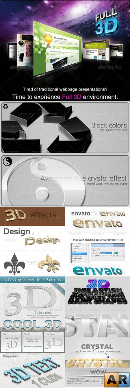 Graphicriver 3D Action PSD