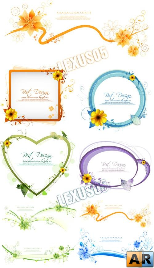 Best Design Floral Frames and Decorations