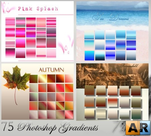 Градиенты для Photoshop - 4 Gradient Sets