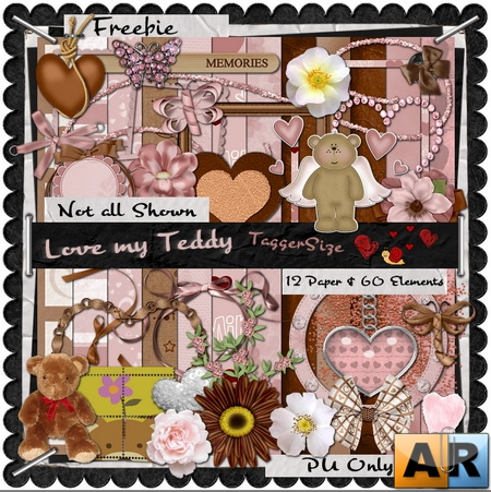 Scrap kit - Love My Teddy