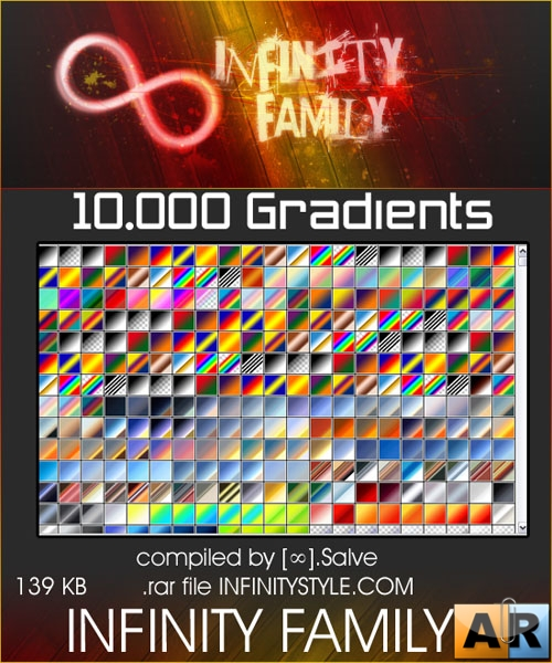 Градиенты для Photoshop - 10 000 Gradients by InfinityStyle