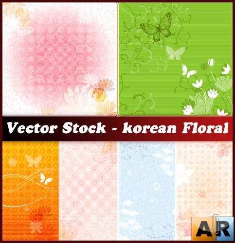Vector Stock - korean Floral