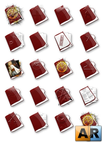 Red Icons Folder Set