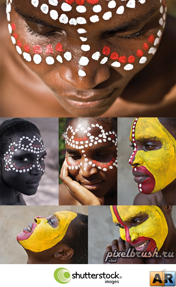 African Face Paintings - Раскрашенные африканские лица