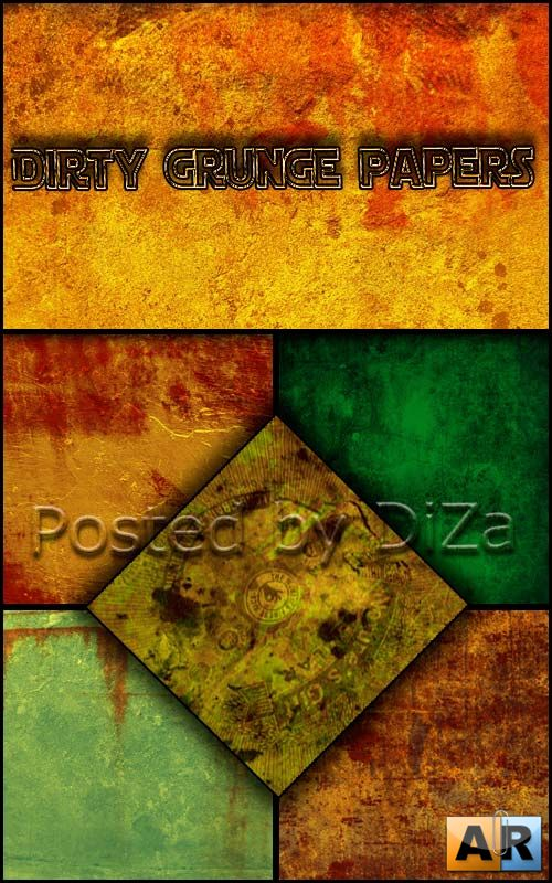 Dirty grunge papers set