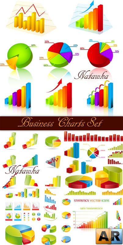 Business Charts Set - vector