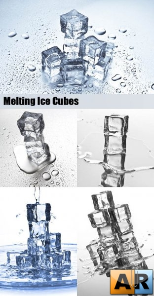 Stock Photos - Melting Ice Cubes