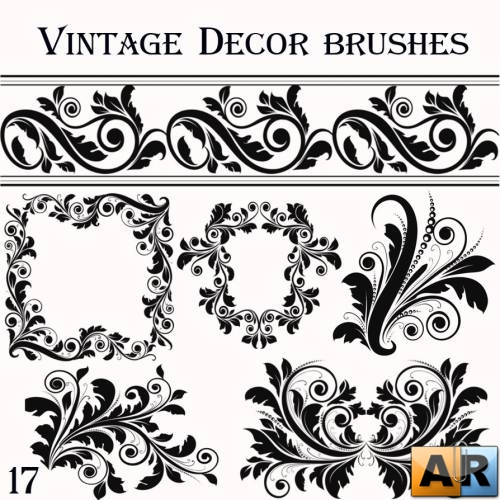 Vintage Decor vector brushes