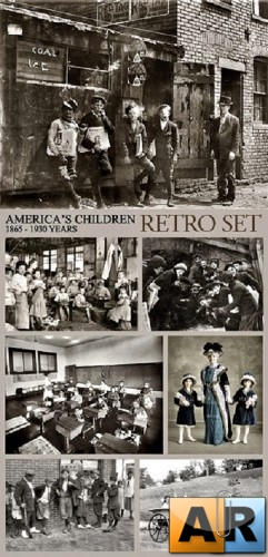 America's Children Retro Photos (1865-1930 Years)