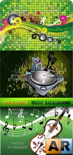 Stock Vector - Music Background