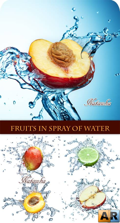 Fruits in Spray of Water - Stock Photos