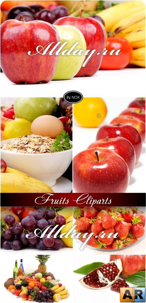 Fruits Cliparts - Фрукты