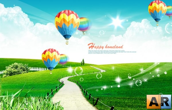 Happy Homeland PSD Template