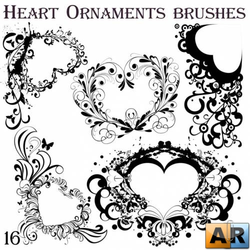 Heart Ornaments brushes