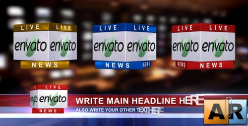 Videohive After Effects Project 3d News Logo Lower Third 235086