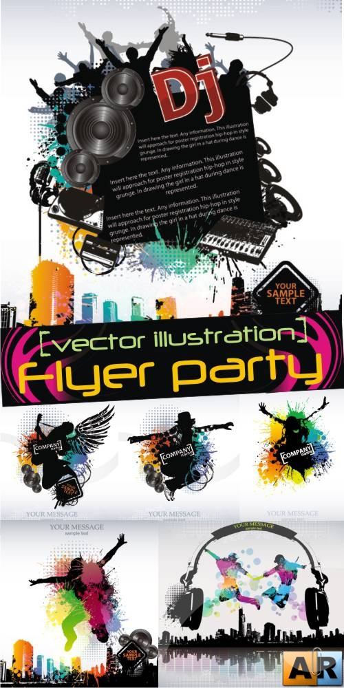 Vector Flyer party