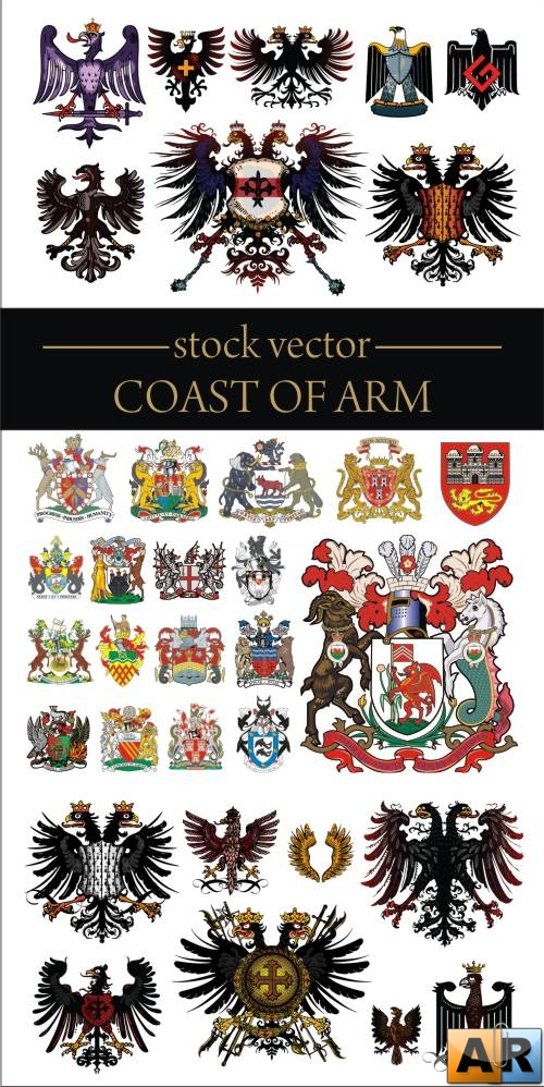 Coast of Arm - Vector cliparts