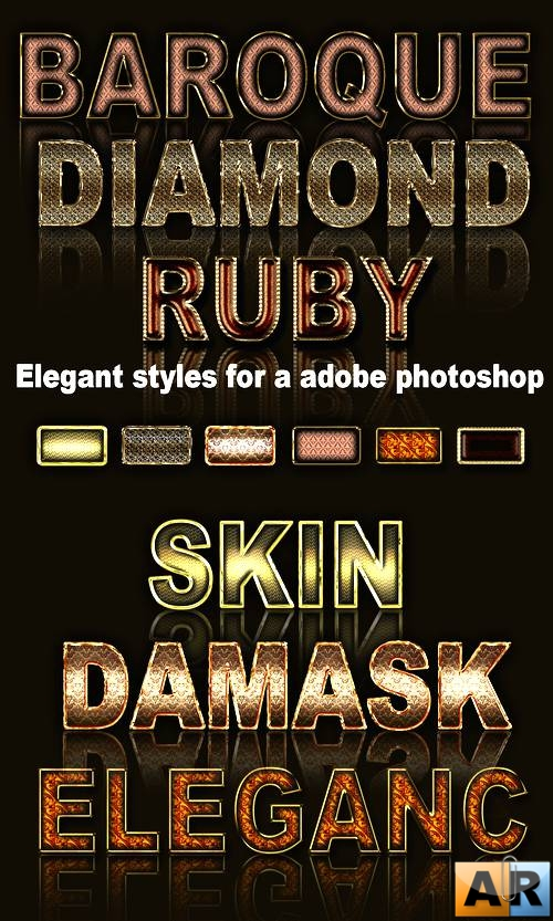Elegant styles for a Adobe Photoshop