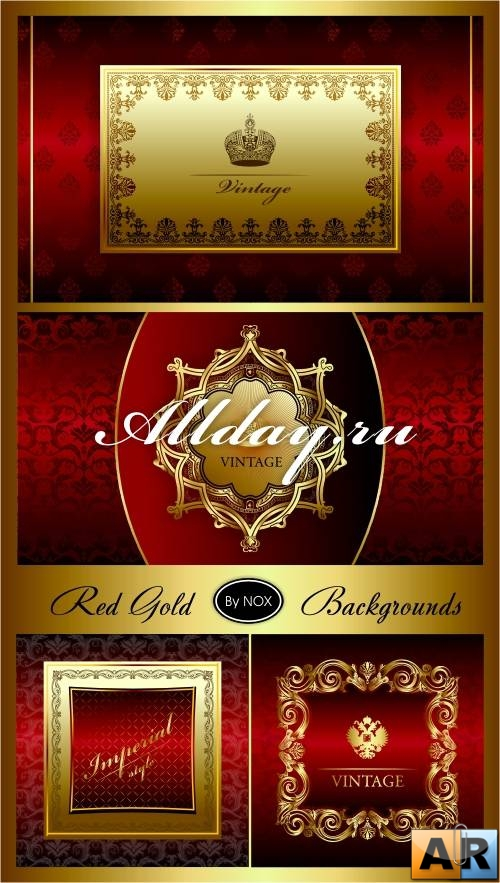 Red Gold Vector Backgrounds