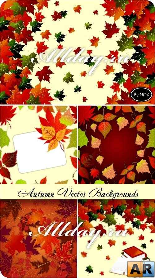Autumn Vector Backgrounds - Осень, фоны