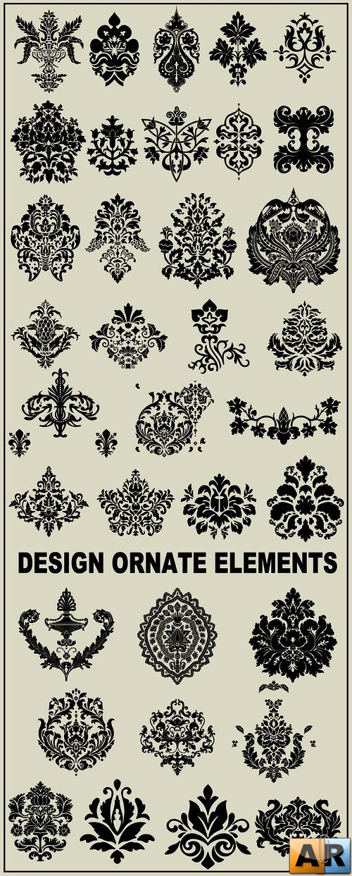 Vector clipart - design ornate elements