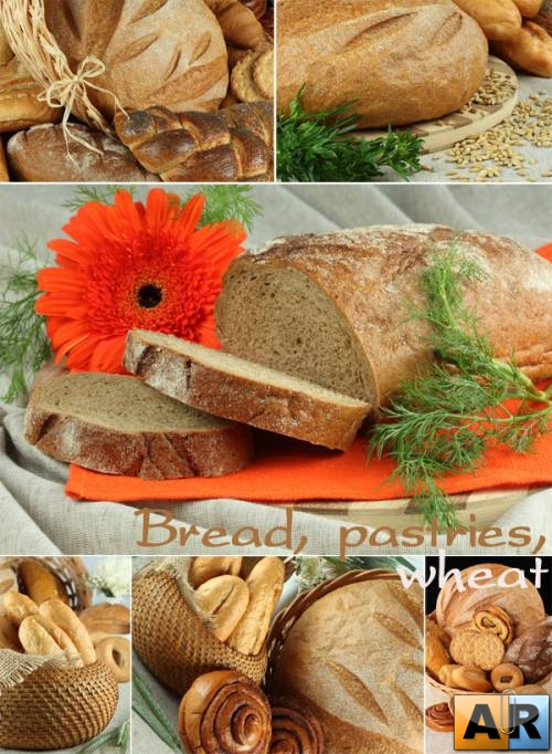 Bread, pastries, wheat
