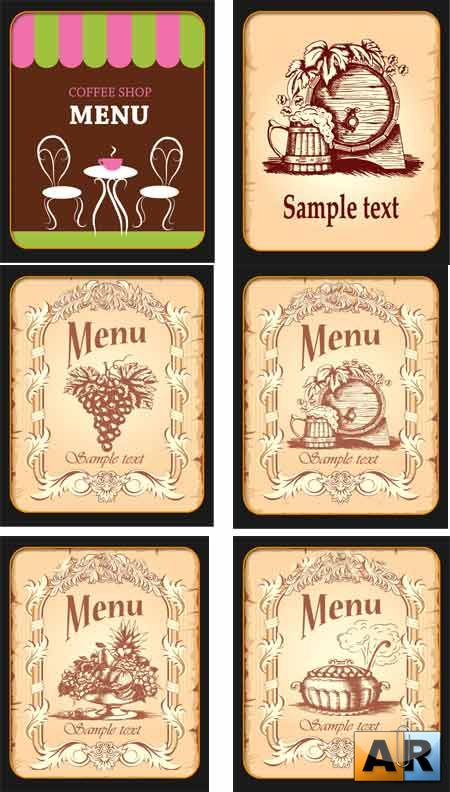 ���� � ������� / Menu vector Collection