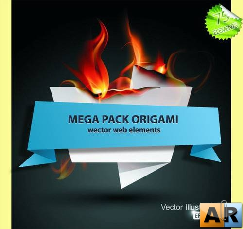 MEGA pack vector elements origami