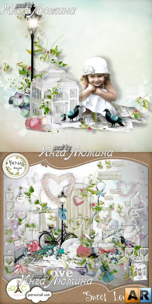 Scrap kit  Sweet Love