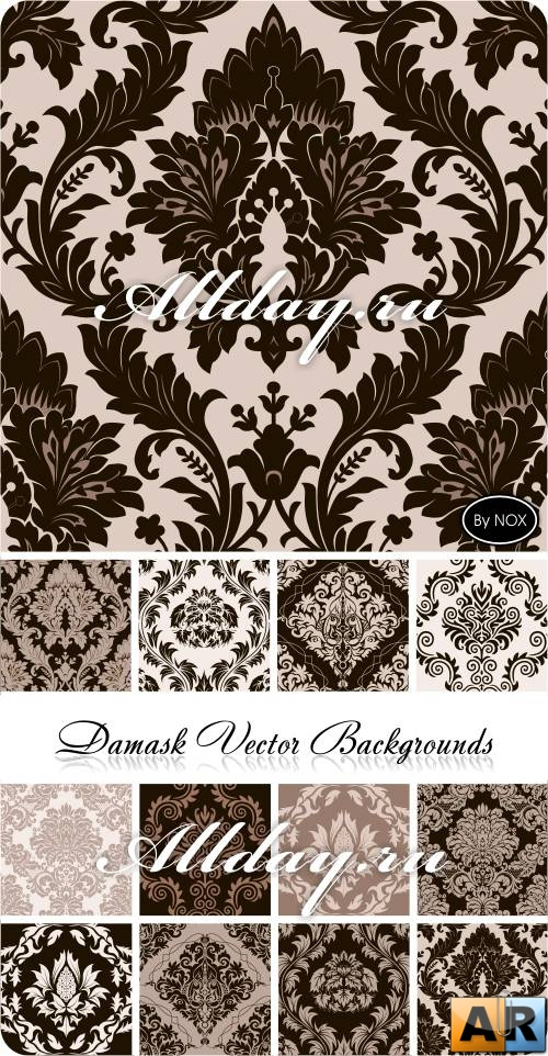 Damask Vector Backgrounds