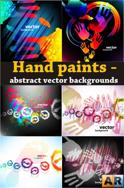 Hand paints - abstract vector backgrounds