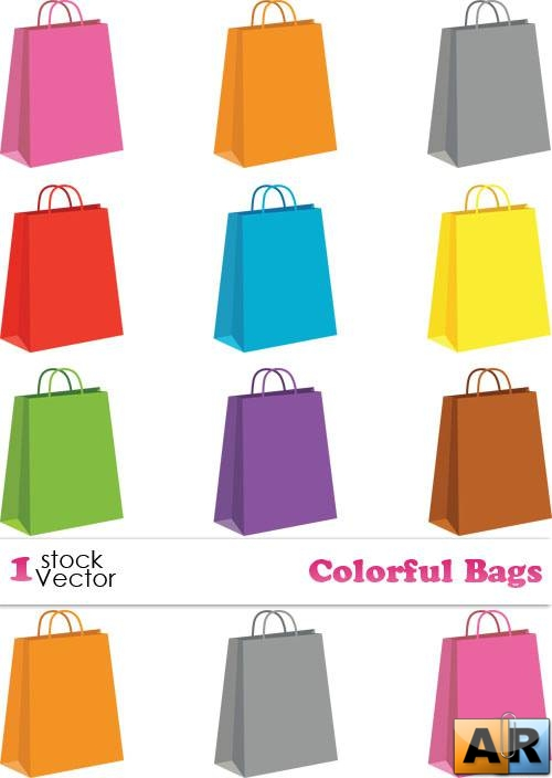 Colorful Bags Vector