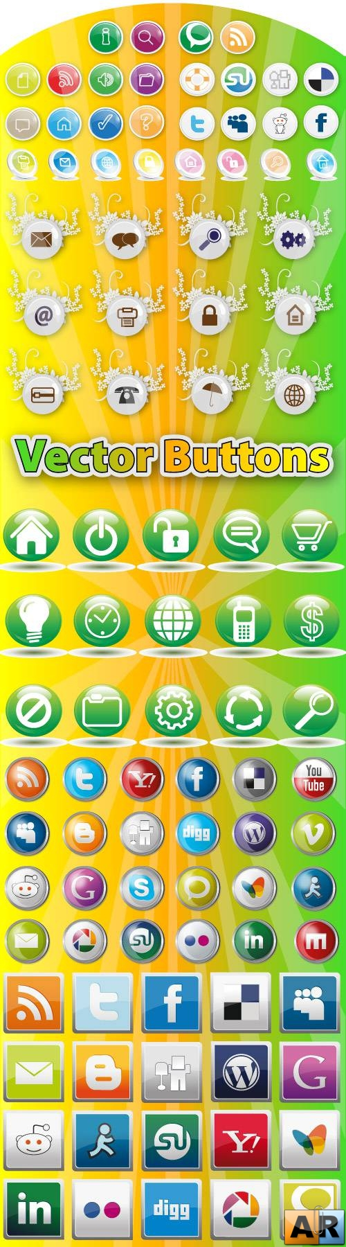 Stock Vector Buttons