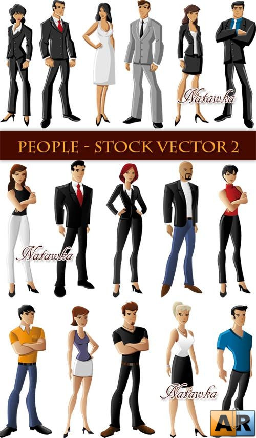 People - Stock Vector 2