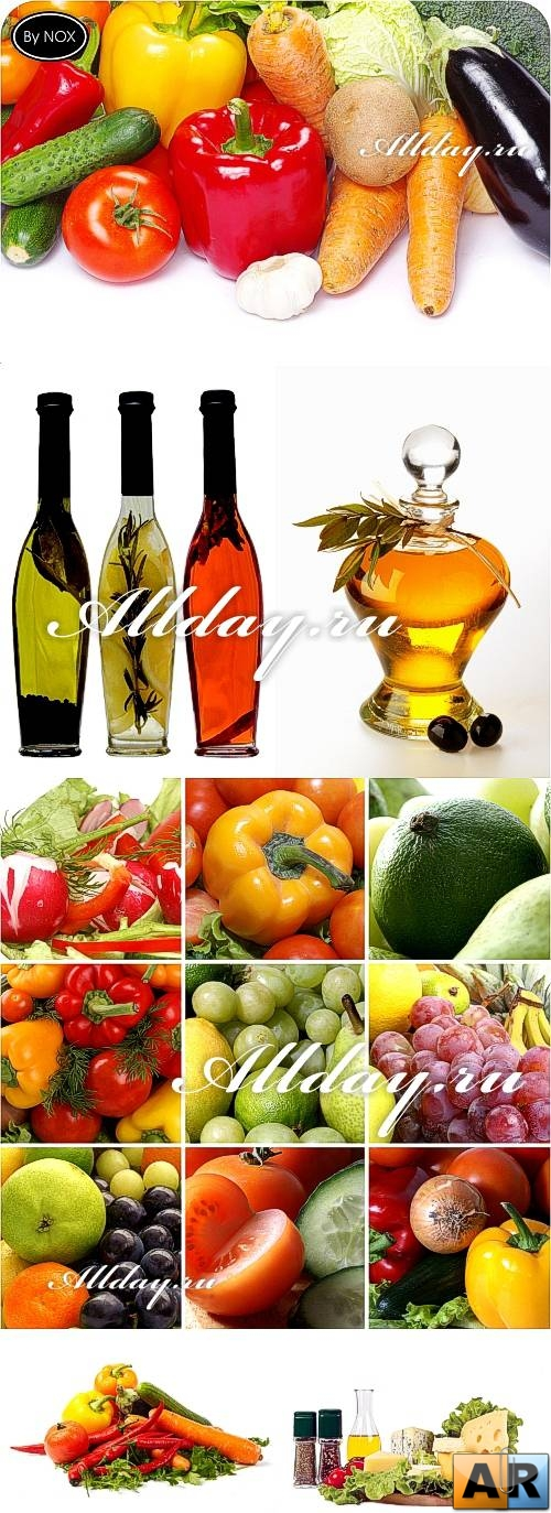 Vegetables & Oil Cliparts