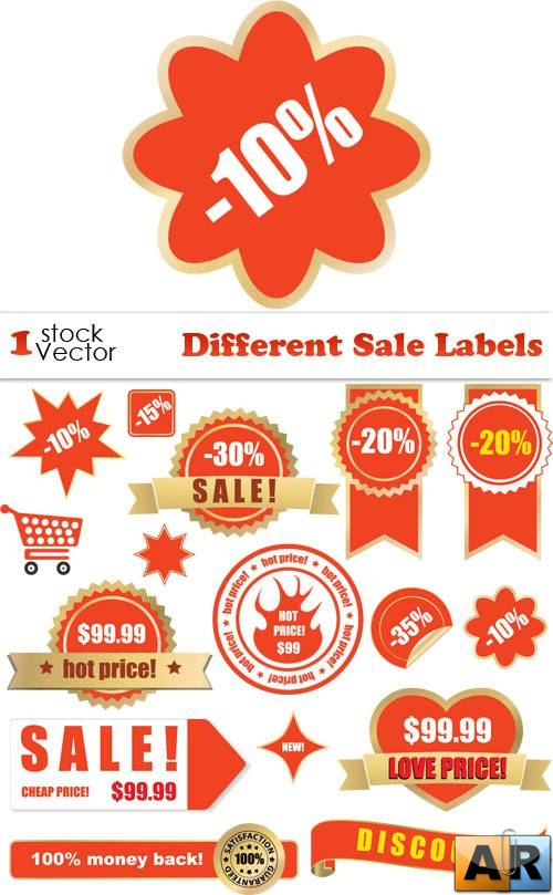 Different Sale Labels Vector