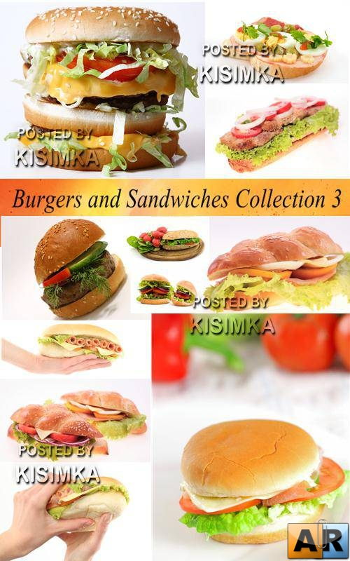 Stock Photo: Burgers and Sandwiches Collection 3
