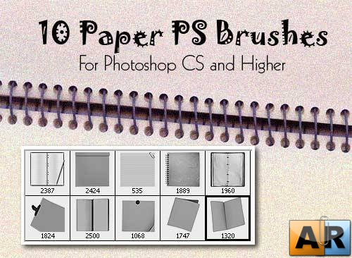10 Paper Photoshop Brushes