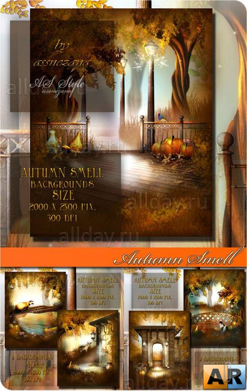 Autumn smell backgrounds