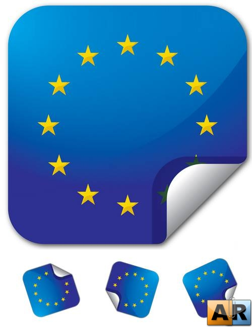 Continent Sticker Europe Vector