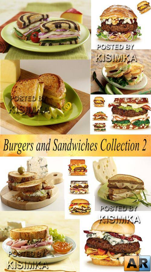 Stock Photo: Burgers and Sandwiches Collection 2