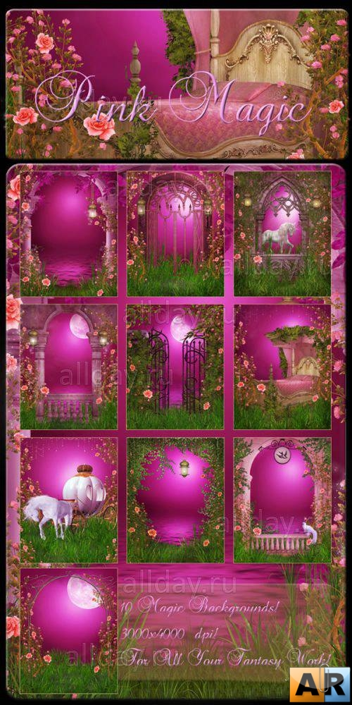 Pink Magic Backgrounds