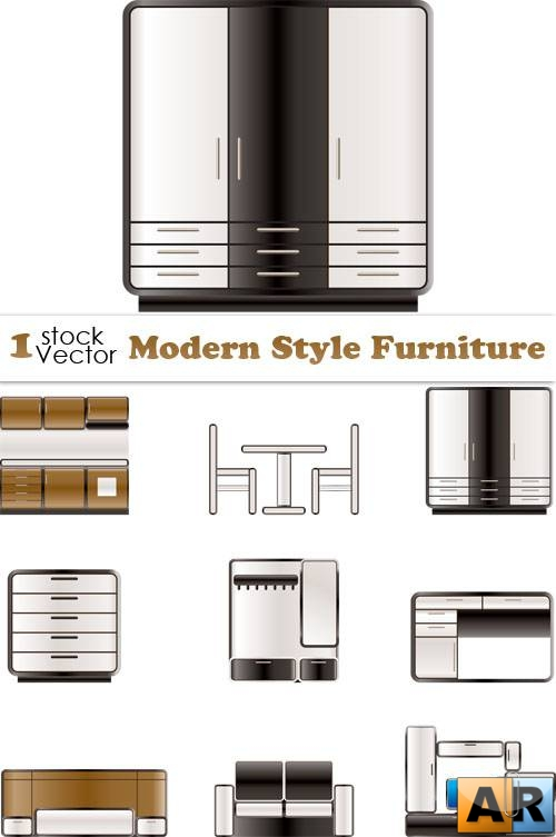 Modern Style Furniture Vector