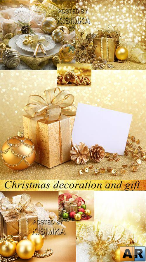 Stock Photo: Christmas decoration and gift